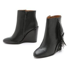 Chloe leather fringe booties